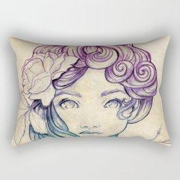 Art nouveau Portrait Lady Rectangular Pillow