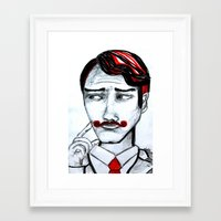 gentleman Framed Art Prints featuring gentleman by sladja