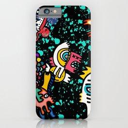 Mostrini in the Space Graffiti Street Art  iPhone Case