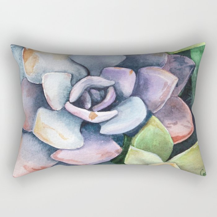 dawnsing succulents Rectangular Pillow