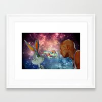space jam Framed Art Prints featuring Space Jam by Emil Engström