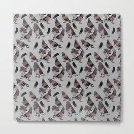 Pigeon Pattern 2 Metal Print