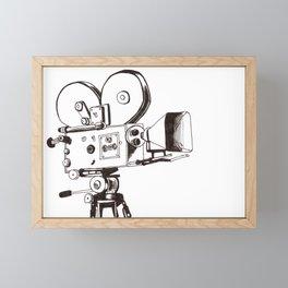 Vintage Filming Framed Mini Art Print