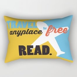 Travel - Just Read Rectangular Pillow