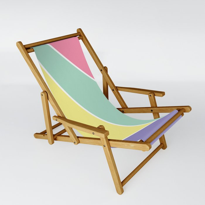 Pastel Color Block Sling Chair