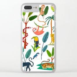 Jungle Creatures Clear iPhone Case
