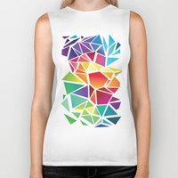triangles Biker Tanks featuring Triangles by Veronika