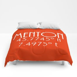 Menton Latitude Longitude Comforters