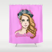lana Shower Curtains featuring Lana by KeriiLynne