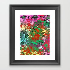 Splash Colour Decorative Motif Framed Art Print