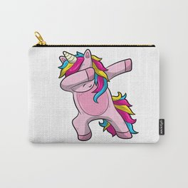 Dabbing Unicorn TShirt Funny Birthday Kids Gift Carry-All Pouch