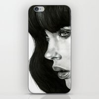 hair iPhone & iPod Skins featuring Girl by BlackNYX