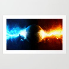 Galactic Countdown - Painting Style Art Print
