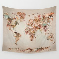 world map deluxe Wall Tapestry