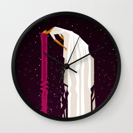 woman flying in space Wall Clock