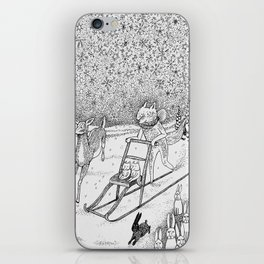 Kick-sledding Fox iPhone Skin