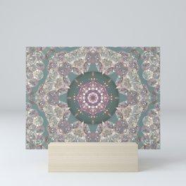 amethyst mandala Mini Art Print