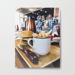 Cup of Fries Metal Print