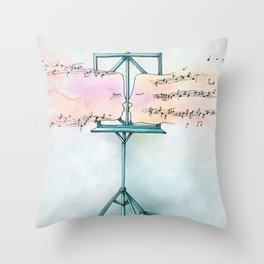Kissing scores - blue ambiance Throw Pillow