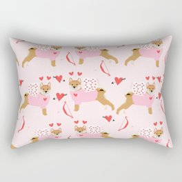 Shiba Inu love bug valentines day cute dog breed costume shibas pure breed puppers Rectangular Pillow