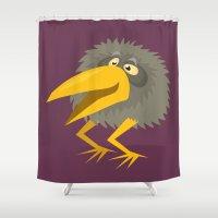 kiwi Shower Curtains featuring Kiwi by Steve Steiner