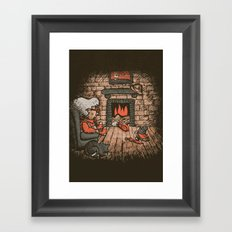 A Hard Winter Framed Art Print