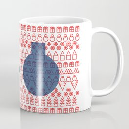 Geometric Christmas Pattern Coffee Mug