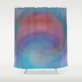 Retro Nouveau Shower Curtain