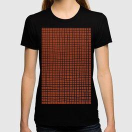 Navy and Rust (XV) Thread Pattern T-shirt