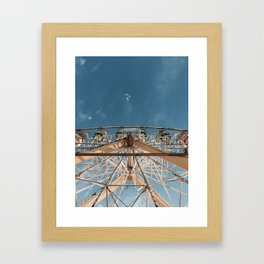 Love above the clouds Framed Art Print