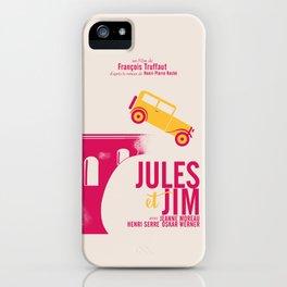Jules et Jim, François Truffaut, minimal movie Poster, Jeanne Moreau, french film, nouvelle vague iPhone Case