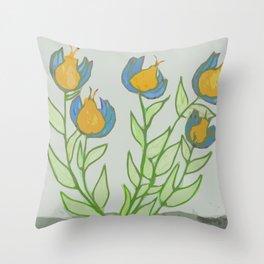 Strange Little Flowers Throw Pillow