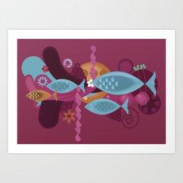 Happy lake Art Print