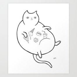 Fatty Catty Art Print