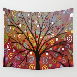 Abstract tree-10 Wall Tapestry