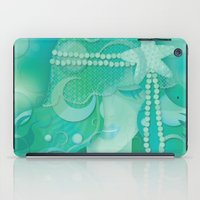 mermaid iPad Cases featuring Ocean Queen by Graphic Tabby