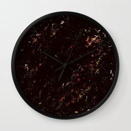 Spring black pink Wall Clock