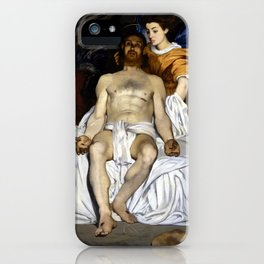 Édouard Manet The Dead Christ with Angels iPhone Case