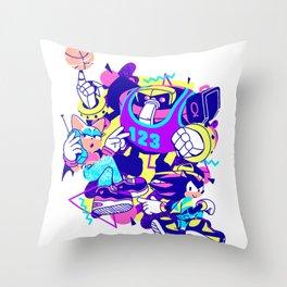 Bad Boys, Bad Boys Throw Pillow