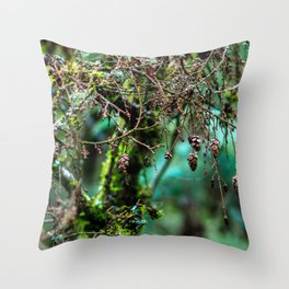 Little Pinecones Throw Pillow