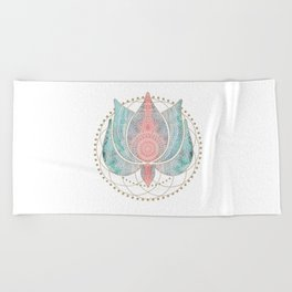 Yoga Lotus Beach Towel