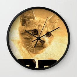 Baseball Kitten #1 Wall Clock