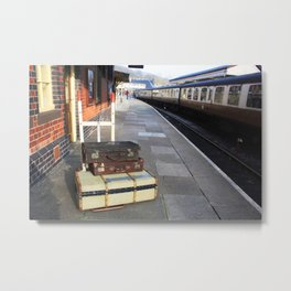 Cases At The Old Railway Station Metal Print
