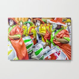 Candombe Drummers at Carnival Parade, Montevideo - Uruguay Metal Print
