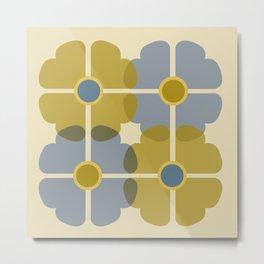 Chanceux Bleu Metal Print