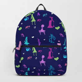 Historic Clothing silhouettes. Backpack