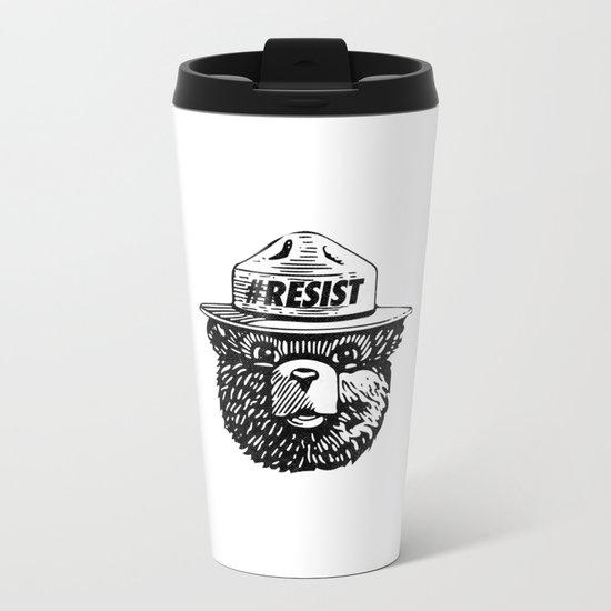 #Resist Metal Travel Mug