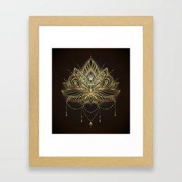 Ornamental Lotus flower Framed Art Print