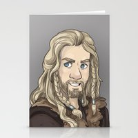 fili Stationery Cards featuring Fili by quietsnooze