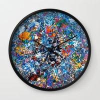 fruit Wall Clocks featuring Fruit by Stephen Linhart